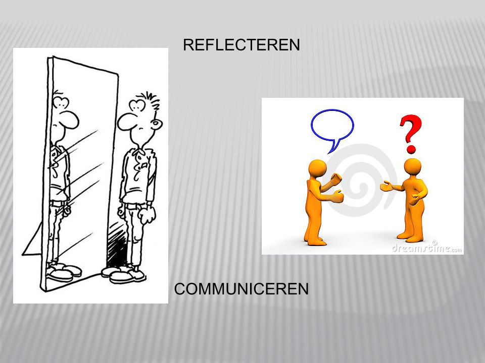 REFLECTEREN COMMUNICEREN