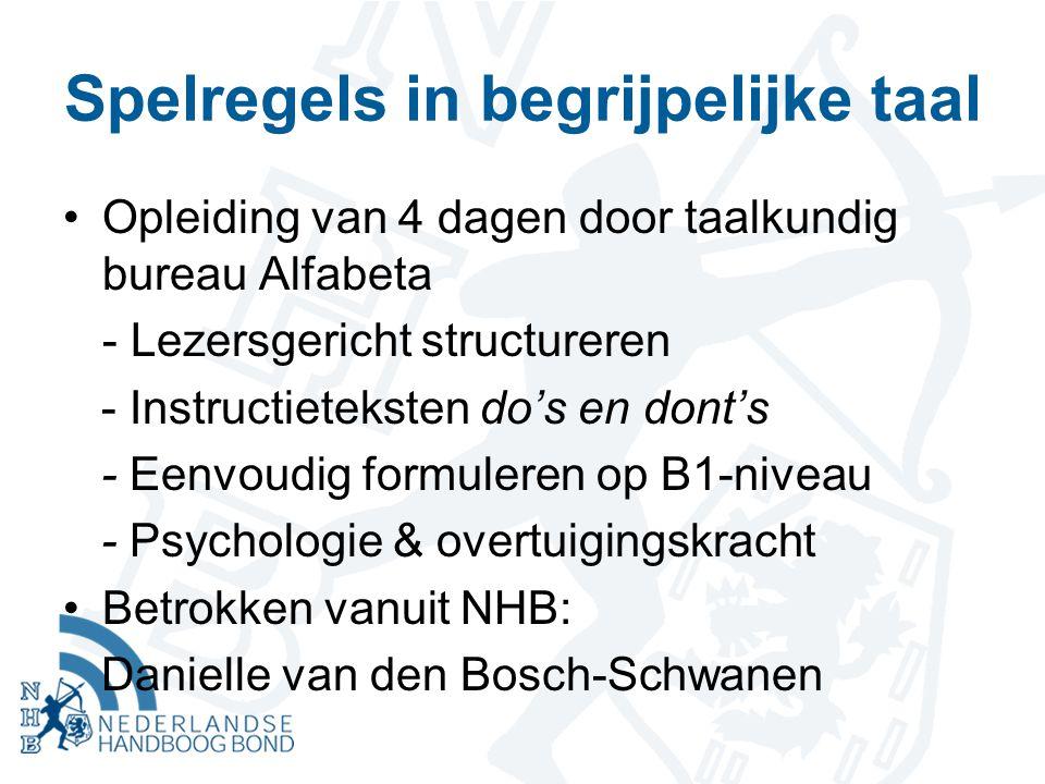 Spelregels in begrijpelijke taal Opleiding van 4 dagen door taalkundig bureau Alfabeta - Lezersgericht structureren - Instructieteksten do's en dont's