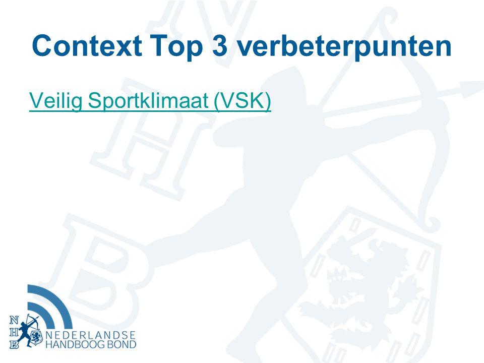 Doelstelling VWS Middels VSK-project gewenst gedrag in en rond de sport stimuleren en ongewenst gedrag voorkomen/ aanpakken