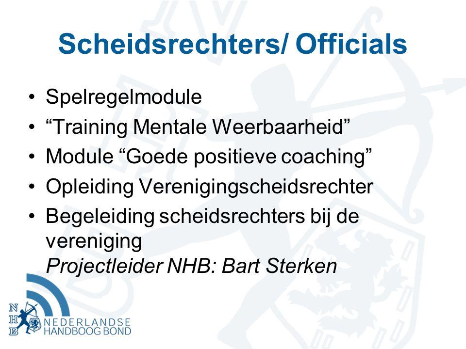 """Scheidsrechters/ Officials Spelregelmodule """"Training Mentale Weerbaarheid"""" Module """"Goede positieve coaching"""" Opleiding Verenigingscheidsrechter Begele"""