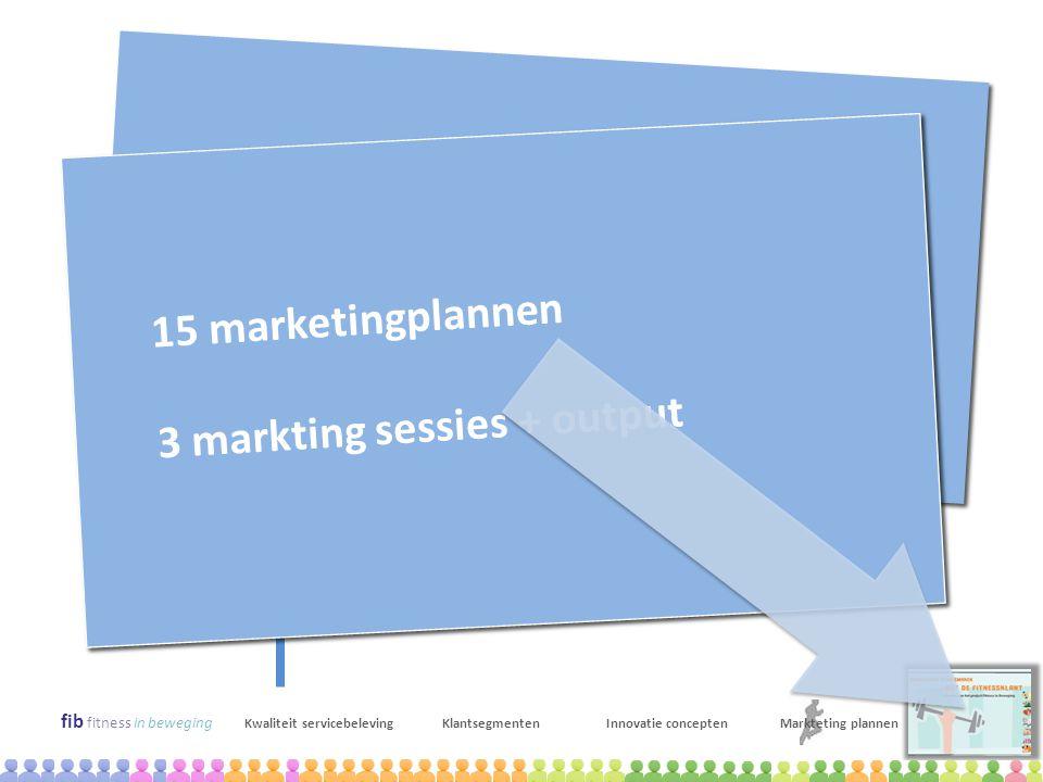 fib fitness in beweging Kwaliteit servicebelevingKlantsegmentenInnovatie conceptenMarkteting plannen sept –okt 2010 Marketingplannen voor 11 fitnessce