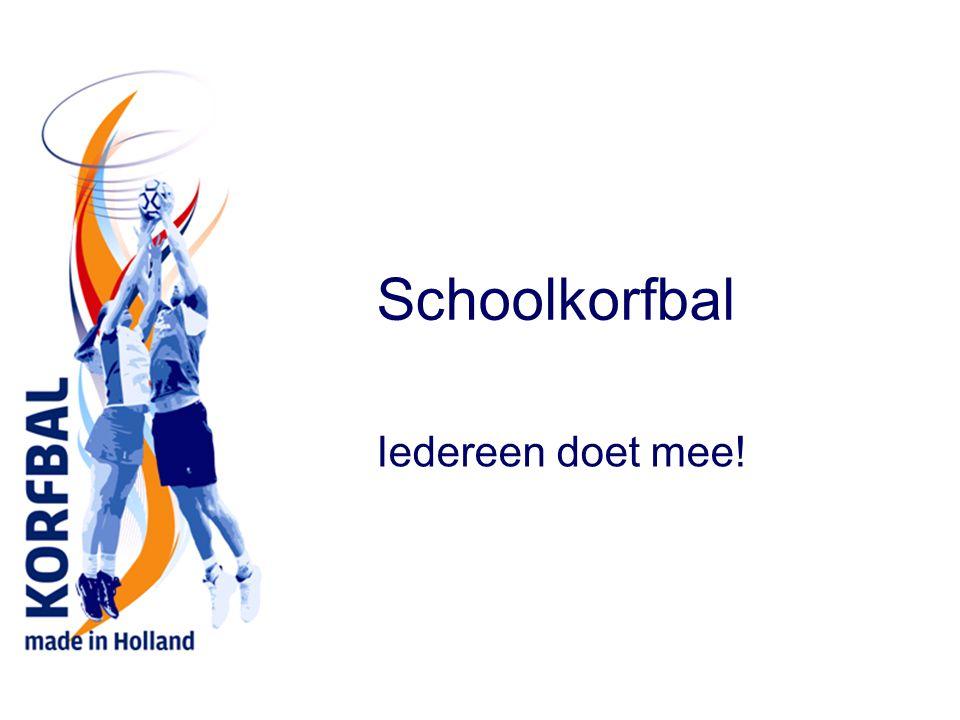 Geschiedenis In 1902 bedacht door de Amsterdamse onderwijzer Nico Broekhuysen Jongens en meisjes spelen samen in één spel, korfbal werd snel heel populair in het onderwijs Ondertussen wordt korfbal in bijna 60 landen gespeeld