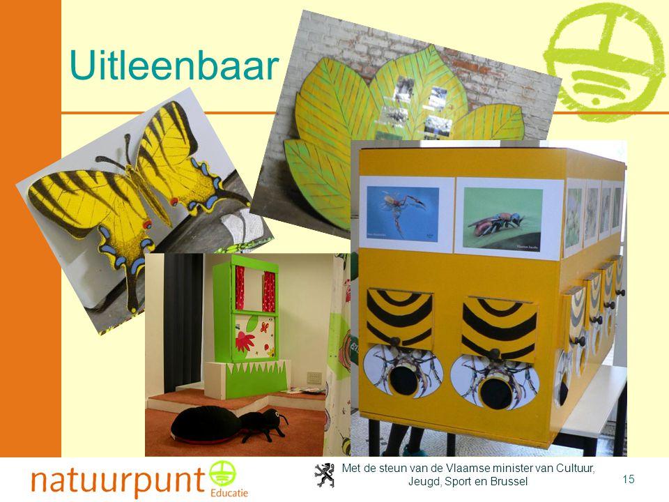 Met de steun van de Vlaamse minister van Cultuur, Jeugd, Sport en Brussel 15 Uitleenbaar