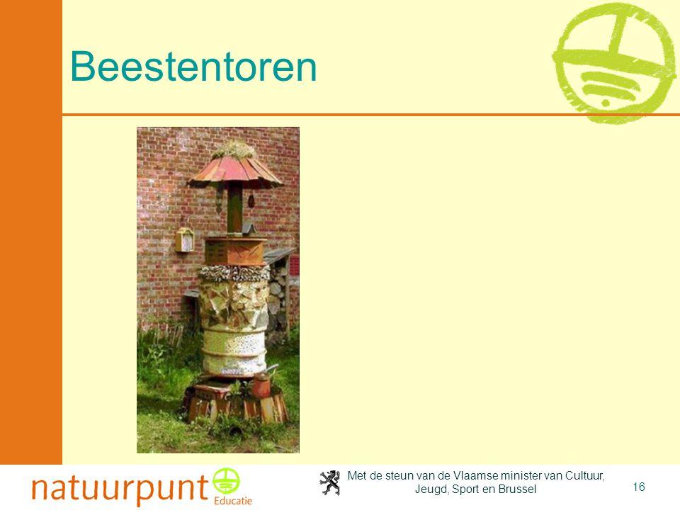 Met de steun van de Vlaamse minister van Cultuur, Jeugd, Sport en Brussel 16 Beestentoren