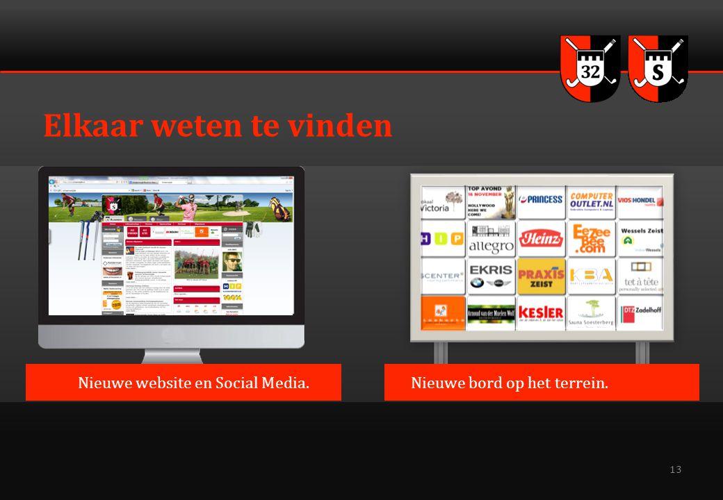 13 Elkaar weten te vinden Nieuwe bord op het terrein.Nieuwe website en Social Media.