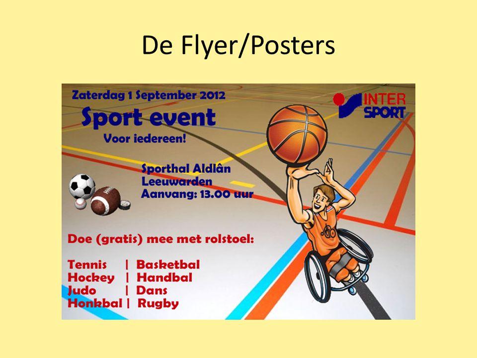 Verspreiden Sportzaken (Intersport/Veneboer etc.) Mailing binnen sportverenigingen/-scholen – DOV (dagelijks een andere sport) – Zorginstellingen (flyeren) Plaatsen op Facebook en Twitter Invalide Taxibedrijven