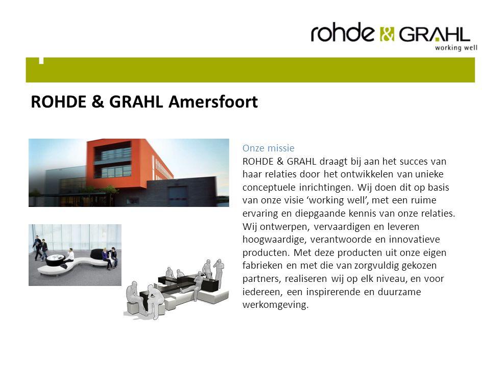 ROHDE & GRAHL Amersfoort Onze missie ROHDE & GRAHL draagt bij aan het succes van haar relaties door het ontwikkelen van unieke conceptuele inrichtingen.