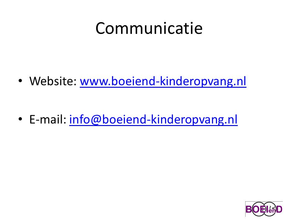 Communicatie Website: