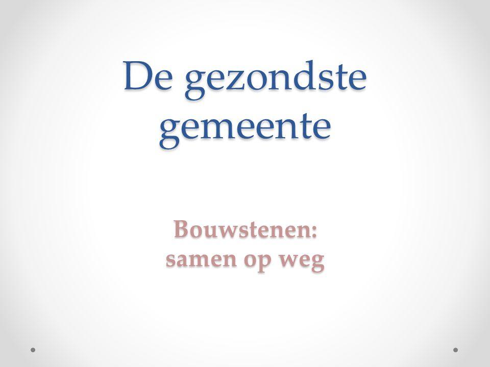 De gezondste gemeente Bouwstenen: samen op weg