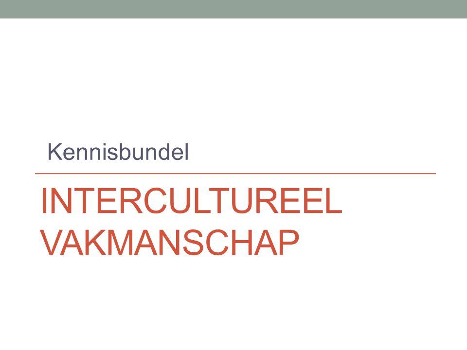 INTERCULTUREEL VAKMANSCHAP Kennisbundel