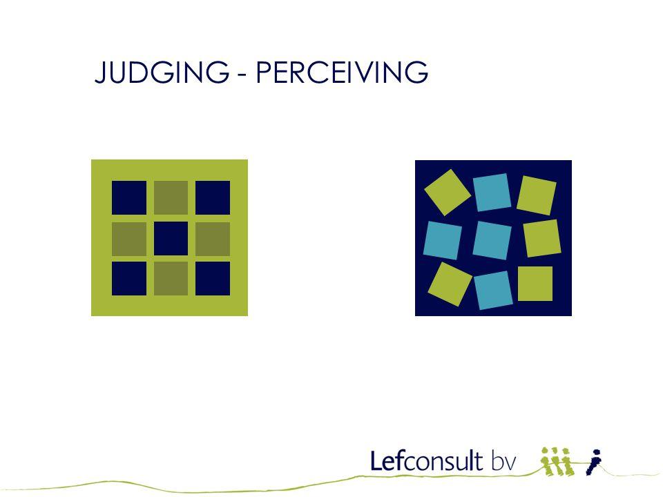 JTI Kwalificatietraining JUDGING - PERCEIVING