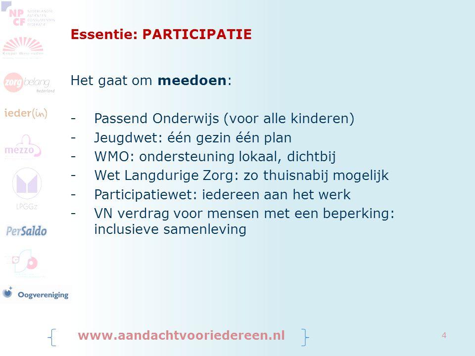 Terugtredende overheid www.aandachtvooriedereen.nl 5