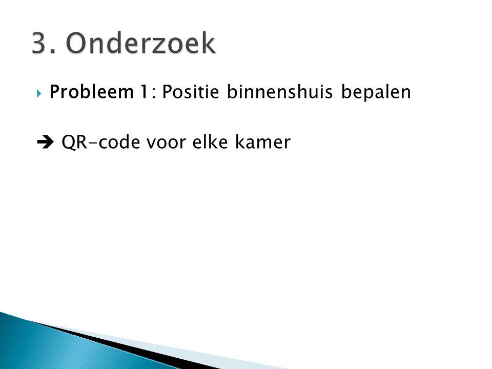  Probleem 1: Positie binnenshuis bepalen  QR-code voor elke kamer