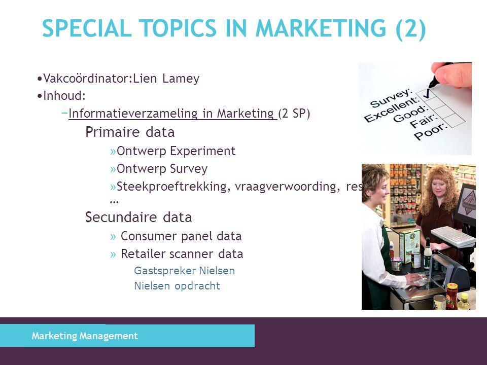 MARKETING ENGINEERING (1) Marketing Management