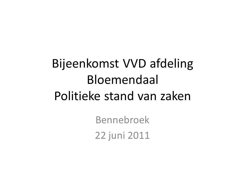 Bijeenkomst VVD afdeling Bloemendaal Politieke stand van zaken Bennebroek 22 juni 2011