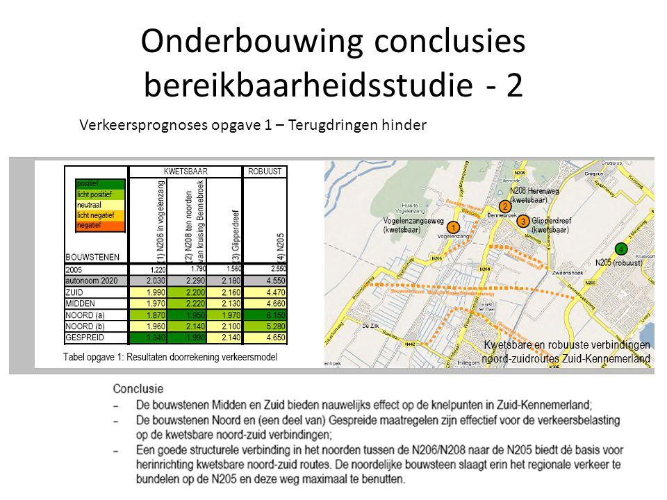 Onderbouwing conclusies bereikbaarheidsstudie - 3 Verkeersprognoses opgave 2 – slechten ringvaart barrière