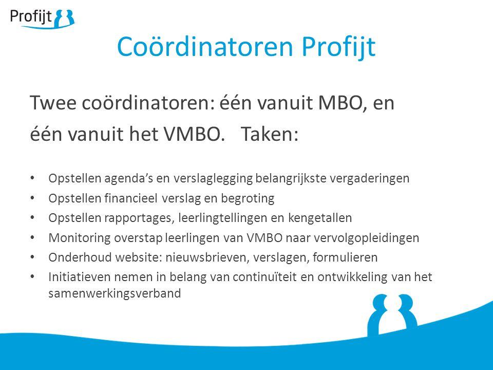 Twee coördinatoren: één vanuit MBO, en één vanuit het VMBO.