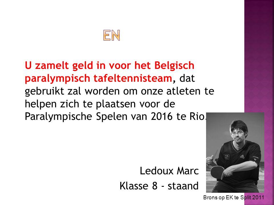 U zamelt geld in voor het Belgisch paralympisch tafeltennisteam, dat gebruikt zal worden om onze atleten te helpen zich te plaatsen voor de Paralympische Spelen van 2016 te Rio.