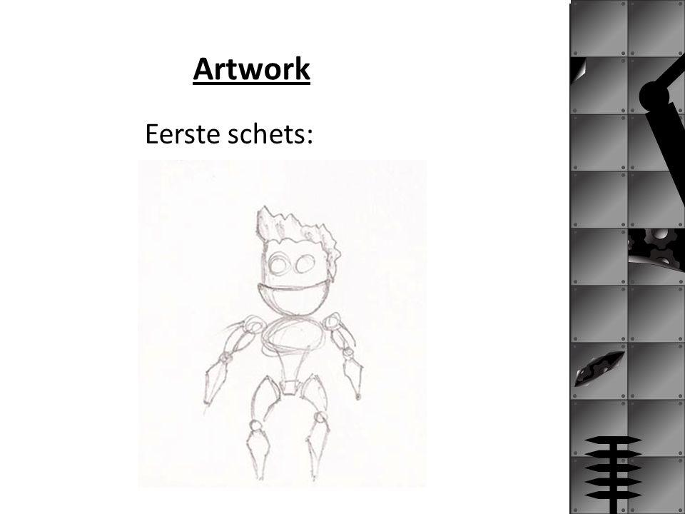 Artwork Eerste schets: