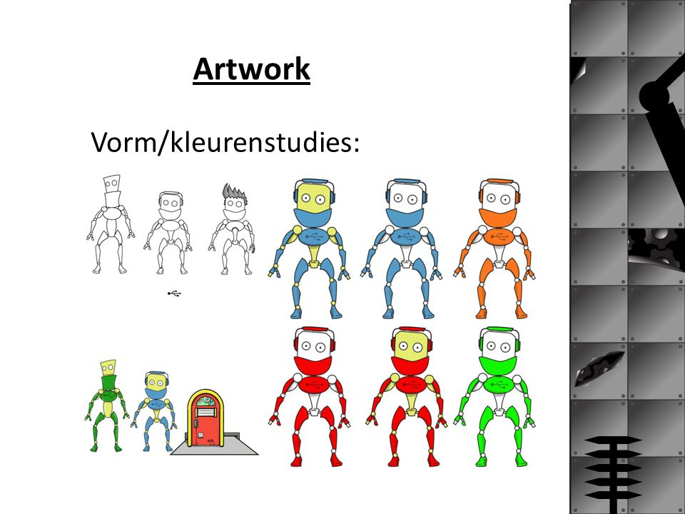 Artwork Vorm/kleurenstudies: