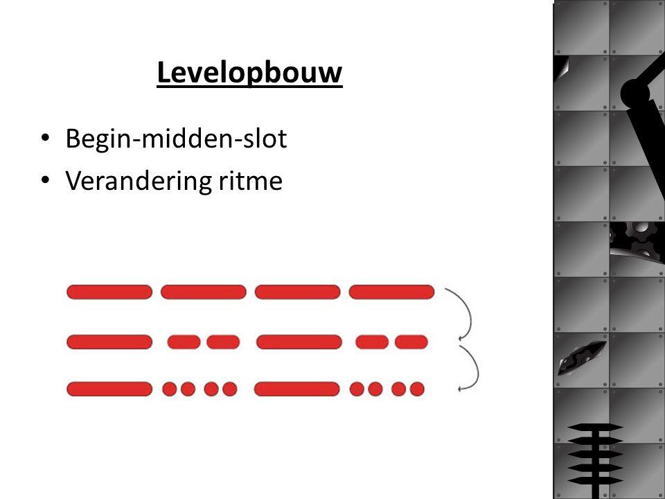 Levelopbouw Begin-midden-slot Verandering ritme