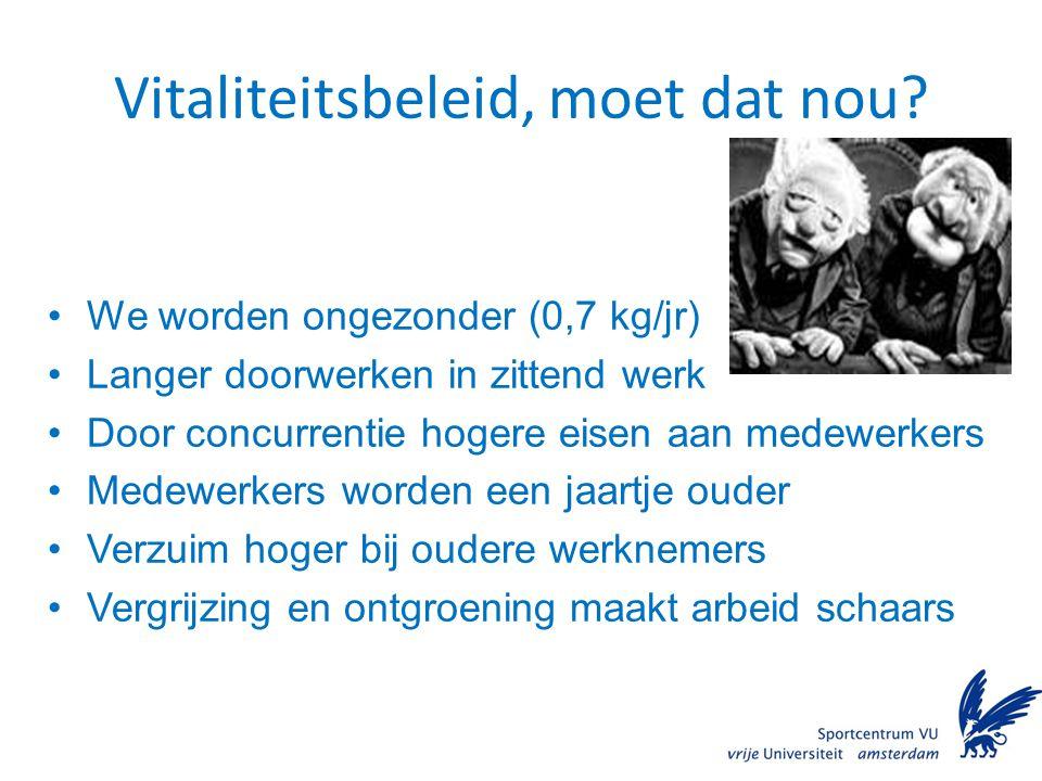 Overgewicht Nederland Bij volwassenen (bron: RIVM) BMI > 25 45 - 52% BMI > 30 10 – 14,5%