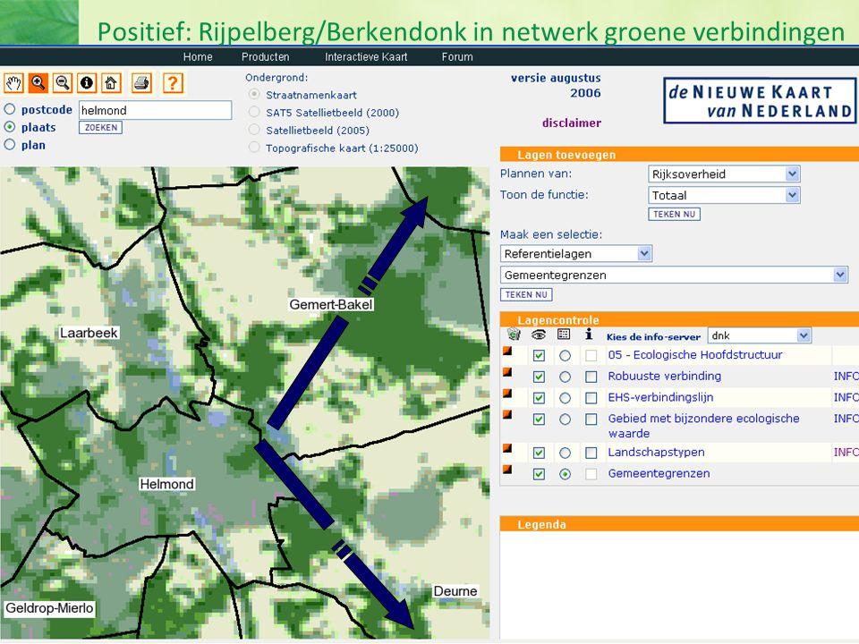 Positief: Rijpelberg/Berkendonk in netwerk groene verbindingen