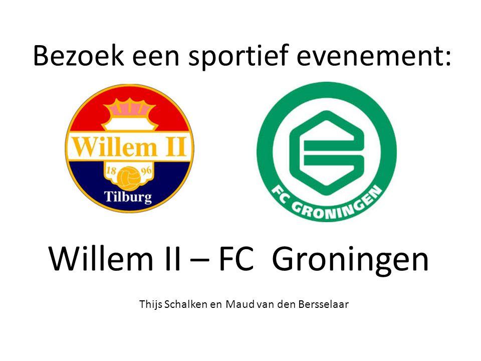 Inleiding: Wij zijn naar de wedstrijd Willem II – FC Groningen geweest op zaterdag 30 maart 2013.