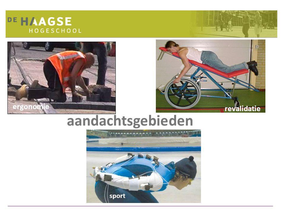 ergonomie revalidatie sport aandachtsgebieden