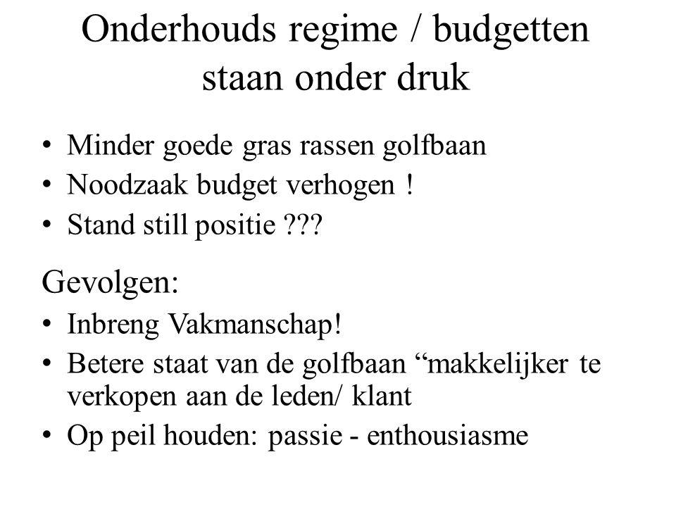 Budgetten Kaasschaaf methoden Werkzaamheden/ besteksposten schrappend Minder (vak) personeel Gevolg….!!.