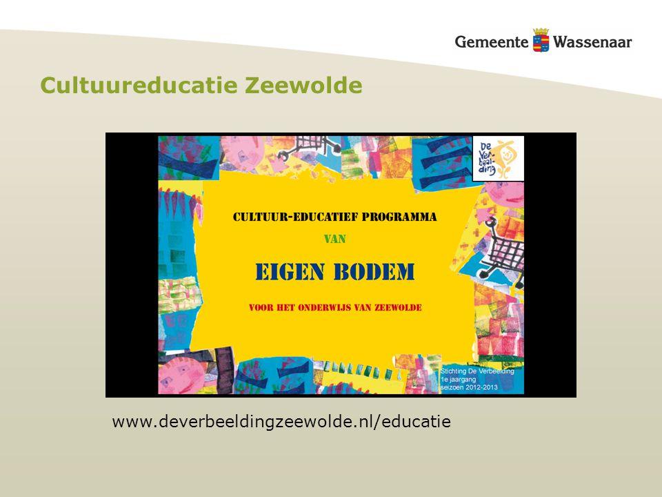 Cultuureducatie Zeewolde www.deverbeeldingzeewolde.nl/educatie