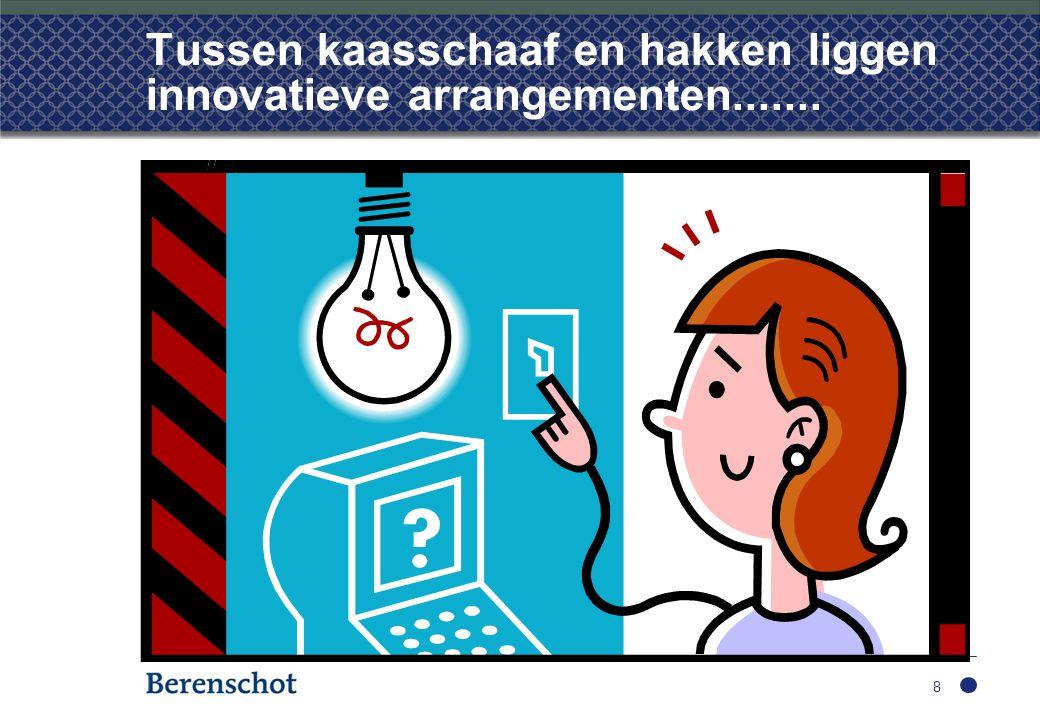 Tussen kaasschaaf en hakken liggen innovatieve arrangementen....... 8