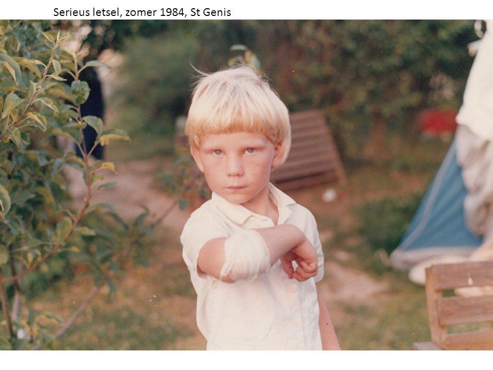 Serieus letsel, zomer 1984, St Genis