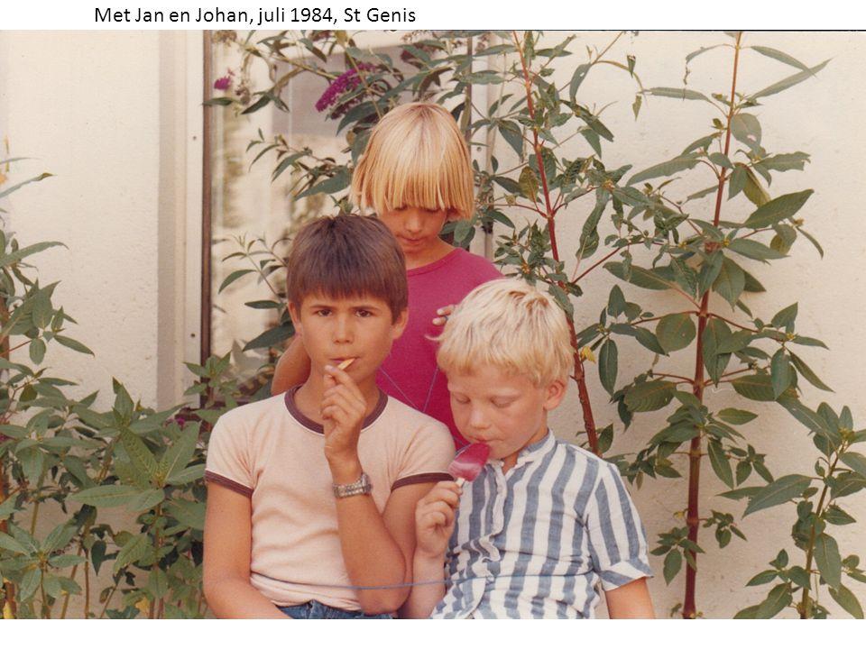 Met Jan en Johan, juli 1984, St Genis