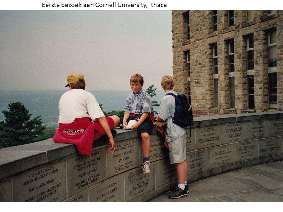 Eerste bezoek aan Cornell University, Ithaca