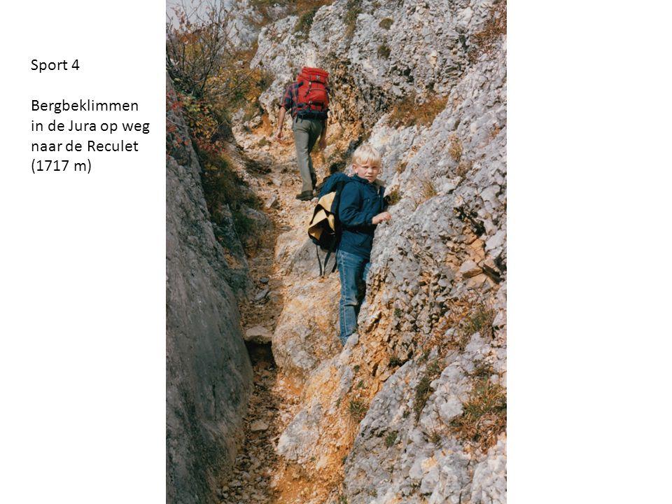 Sport 4 Bergbeklimmen in de Jura op weg naar de Reculet (1717 m)