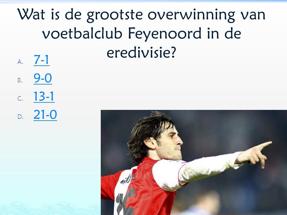 UITSLAG Voor u stopt hier de Feyenoord-quiz. U heeft teveel foutieve antwoorden gegeven.