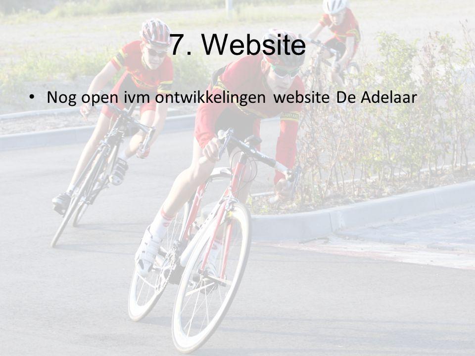 7. Website Nog open ivm ontwikkelingen website De Adelaar
