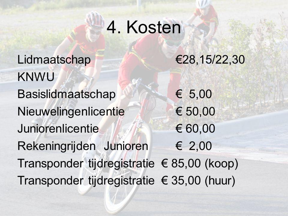5.Wedstrijdprogramma Nieuwelingen en juniorenklassiekers –Welke klassiekers.