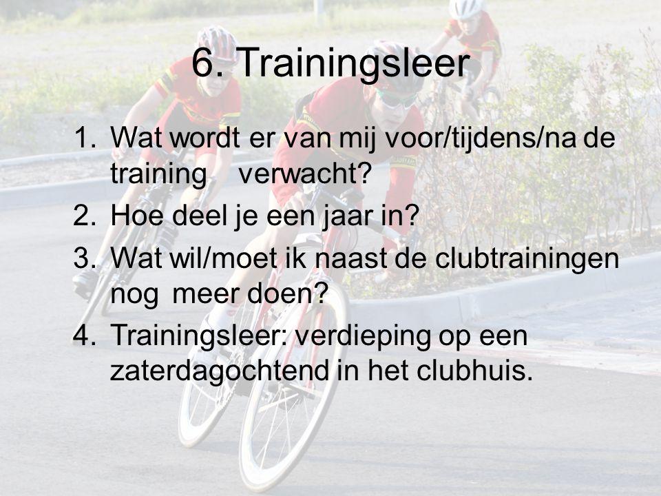 6. Trainingsleer 1.Wat wordt er van mij voor/tijdens/na de training verwacht.