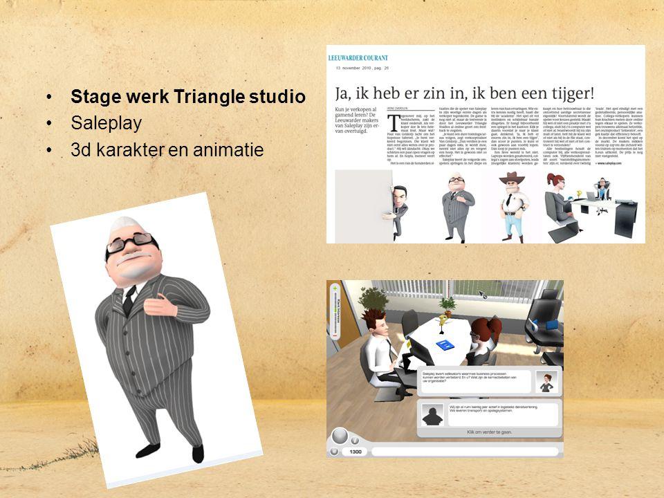 Stage werk Triangle studio Saleplay 3d karakter en animatie
