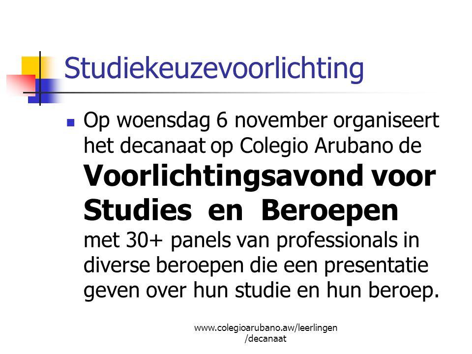In de eerste week van december: Aruba-lening aanvragen (voor alle landen) inleveren bij Directie Onderwijs, afdeling Studiefaciliteiten (1e etage Codemsagebouw) Vanaf december: Nederlandse Studie- financiering (IBG-lening) aanvragen; opsturen naar DUO in Groningen.