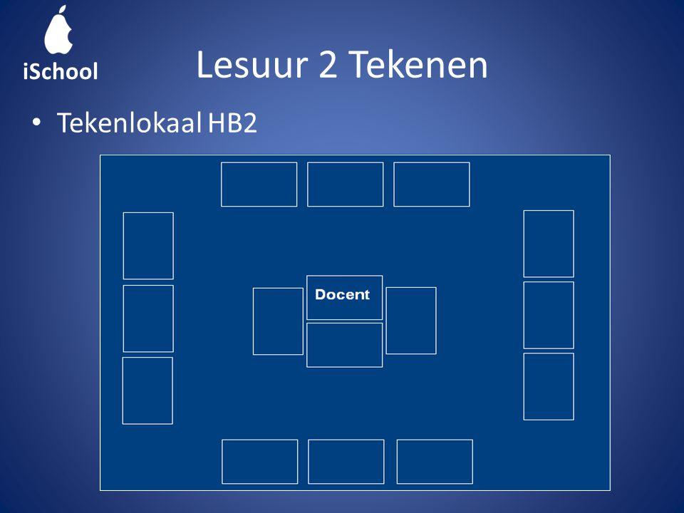 Lesuur 2 Tekenen Tekenlokaal HB2 iSchool