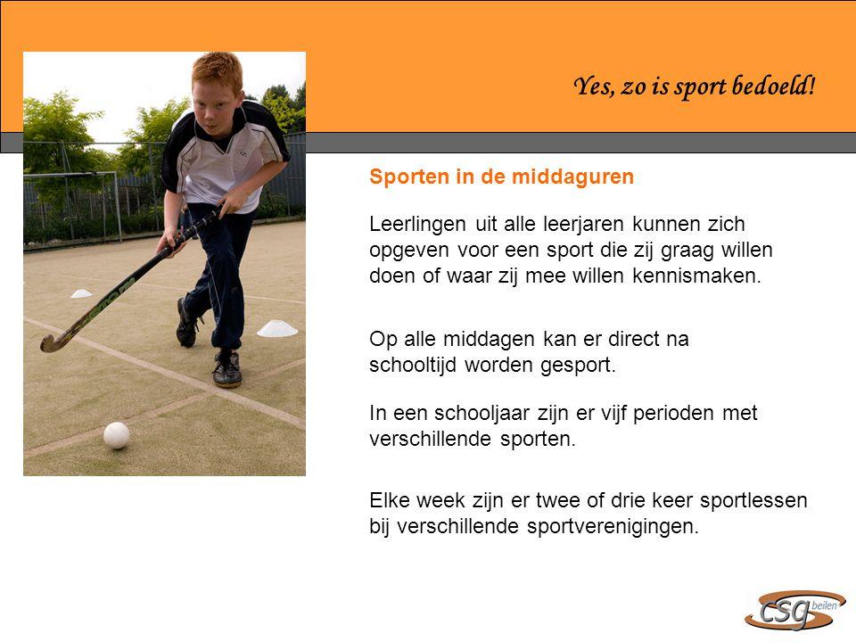 Sporten in de middaguren Leerlingen uit alle leerjaren kunnen zich opgeven voor een sport die zij graag willen doen of waar zij mee willen kennismaken.