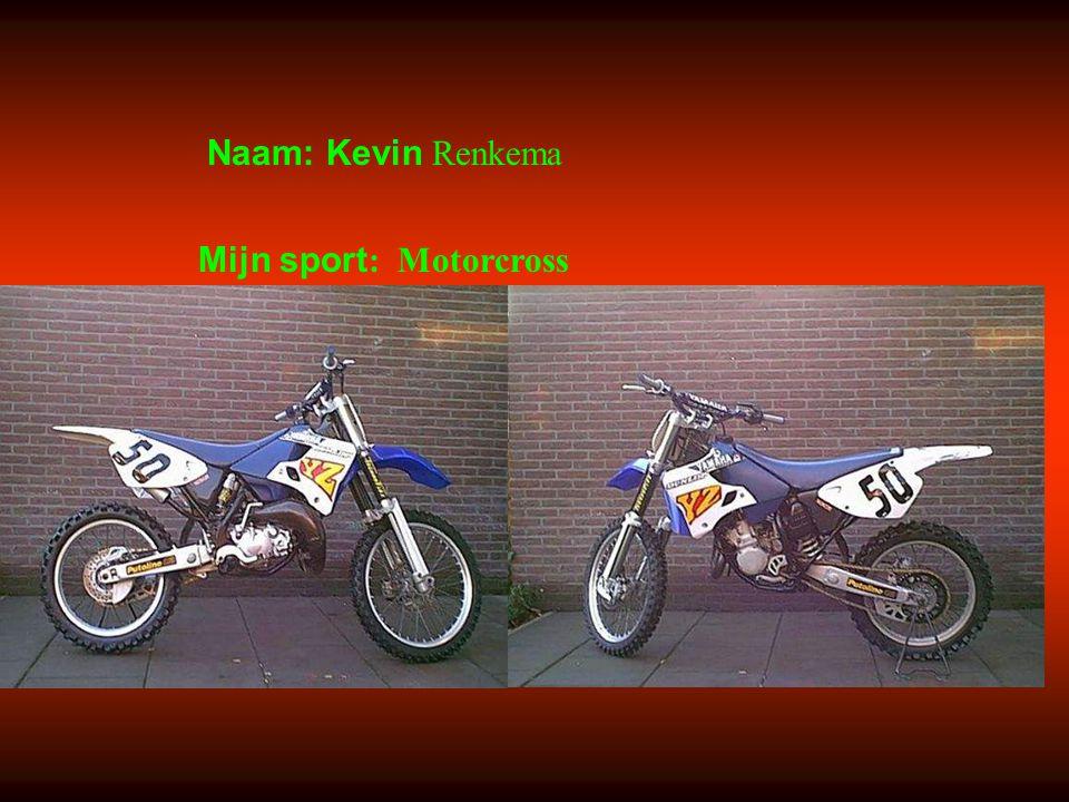 """Naam: Kevin Renkema Mijn sport : Motorcross Klik op """"Naam"""". Vul je naam in. Doe hetzelfde met """"sport"""" Hier kun je een foto / tekening Invoegen"""