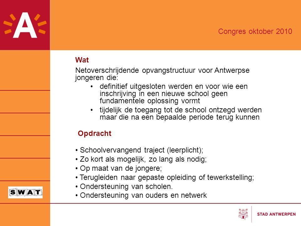 Wat Netoverschrijdende opvangstructuur voor Antwerpse jongeren die: definitief uitgesloten werden en voor wie een inschrijving in een nieuwe school ge