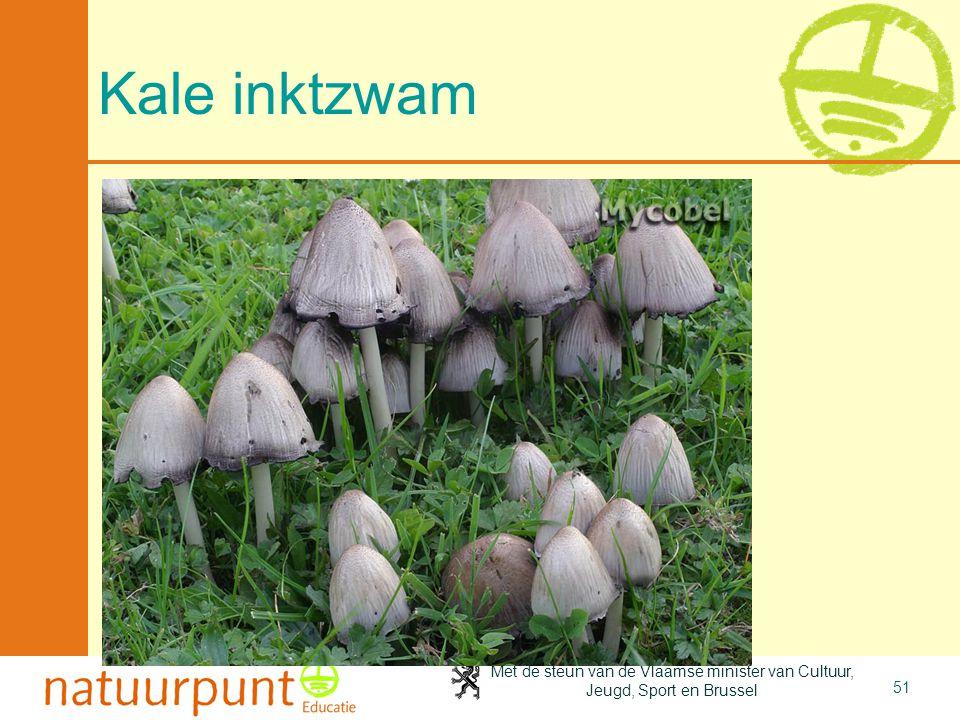 Met de steun van de Vlaamse minister van Cultuur, Jeugd, Sport en Brussel 51 Kale inktzwam