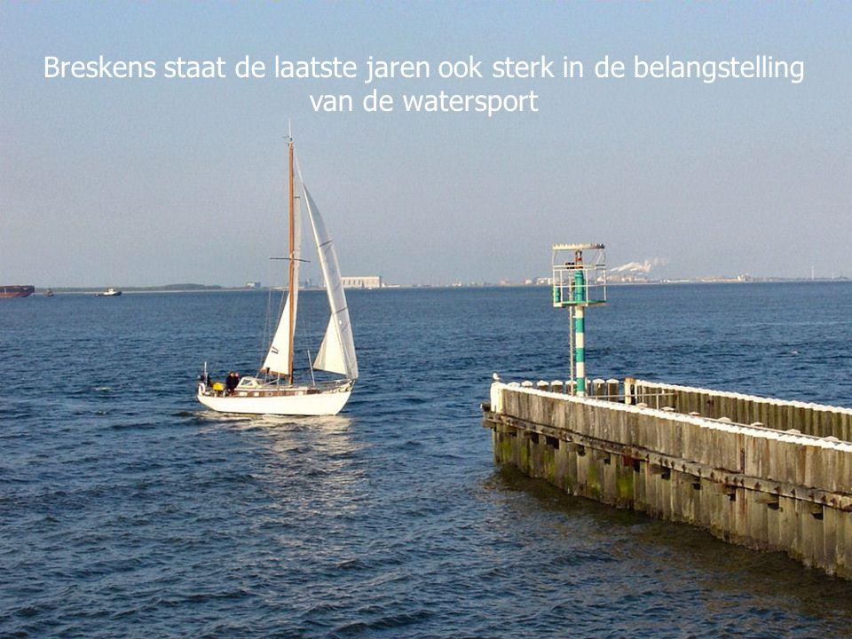 Breskens staat de laatste jaren ook sterk in de belangstelling van de watersport