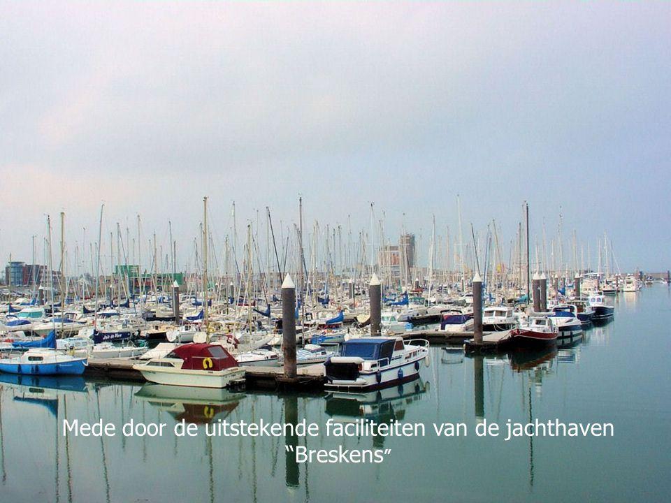 Mede door de uitstekende faciliteiten van de jachthaven Breskens
