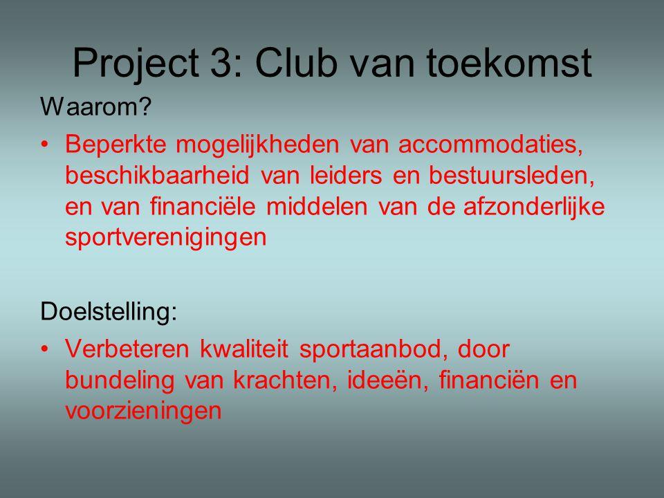 Project 3: Club van toekomst Waarom.
